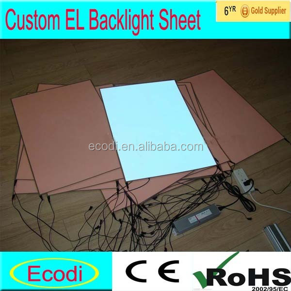 Custom el paper sheet/Animated el backlight with low power consumption