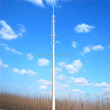 Steel pipe communication self supporting galvanized steel telecommunication monopole single tube towers