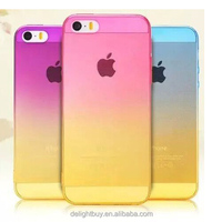THIN CASE ultra thin rainbow color Gradient soft tpu mobile phone case for iphone 5 5s 6 6s plus
