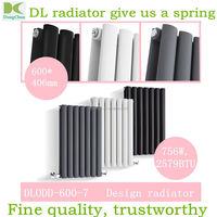 Central Heating Oval -tube Designer Radiators Tall Upright Columns , oval-tube heating radiator using hot water