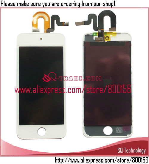 for iPod Touch 5 LCD with Digitizer Assembly Black and White Color