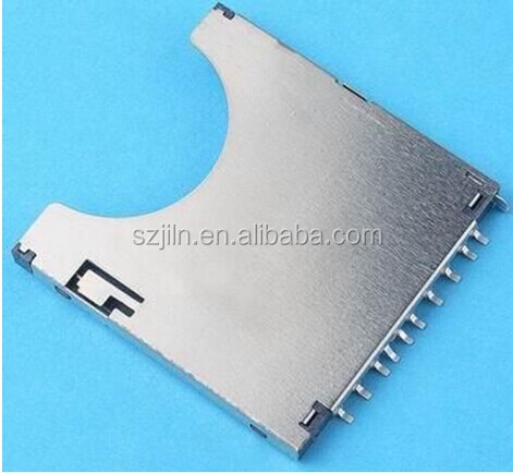 SD card sockets ,TF card sockets 11P with pcb soldering for memory card