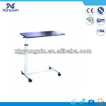 Over bed table with wheels patient dining table YXZ-022