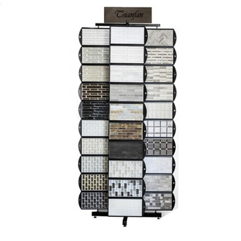 China Display Factory Rotary Mosaic Tile Display Tower Rack for Showroom and Exhibition-