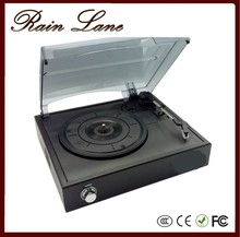 Factory sales three speed, retro style player that plays Black Vinyl Records