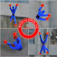 Hotsale sticky gummy spider-man toy wall climbing spiderman toys baby boy toy spiderman figure Chrismats Gifts 2pcs/blister card