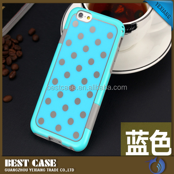 Fashionable Acrylic Polka Dot Case For iPhone 5 5S, Contrast Color Case For iPhone 5 5S