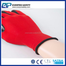EN 388 Palm Dipping Cotton Lined Rubber Gloves With Cheapest Price
