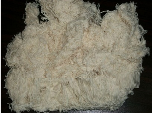 Thread Waste (Hard Cotton Waste)Usually white in Colour