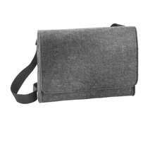 Dark grey wool felt shoulder bag from alibaba china supplier