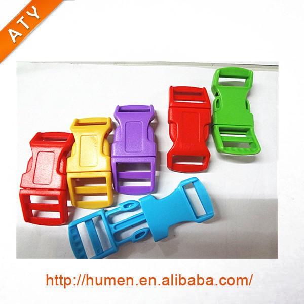 Colored Curved Side Release Plastic Buckle
