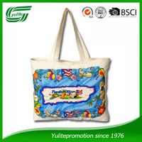 Cheap natural cotton tote bag promotion cotton shoppig bag