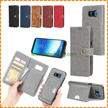 2 in 1 Detachable Magnetic Wallet Stand Flip Leather Phone Case for Samsung Galaxy S8