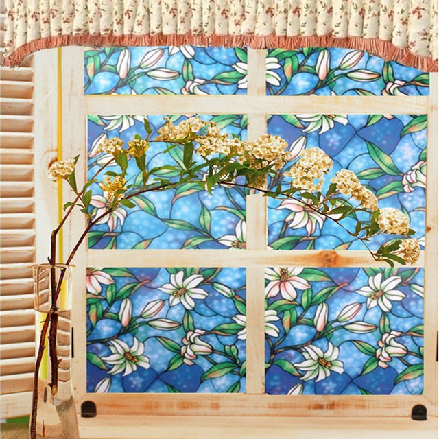 Custom design printing removable tinted rainbow window film for home,security window film
