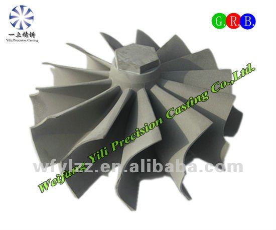 Superalloy turbine wheel for man diesel engine spare parts