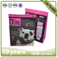 Custom printed moisture proof 10kg dog treat packaging bag hot sale foil lined pet food packaging resealable doypack