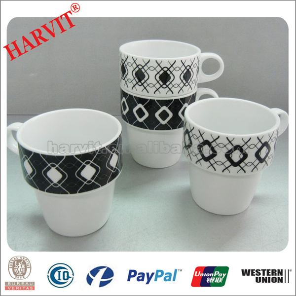 Novelty Products Chinese Custom Ceramic Mug /Porcelain Space Saving Stackable Mug/Stackable coffee Mugs