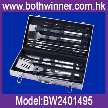 18pcs outdoor bbq tool set with case
