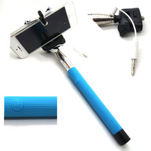 Aluminium bluetooth channel selfie stick with cable selfie monopod stick