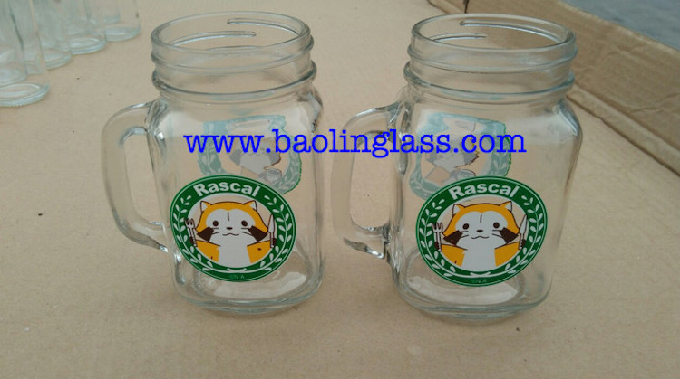 Mason Jars Clear Glass Drinking 32 Oz Wide Mouth