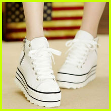 S3003 2013 new arrival sweet korean version sole shoes fashion muffin crust canvas shoes women