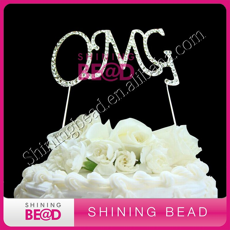 oh my god Oh My Favors Monogram Wedding Cake Toppers
