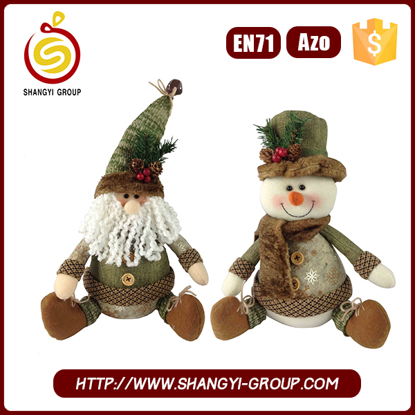 Cheapest handmade plush stuffed toy for christmas home decoration
