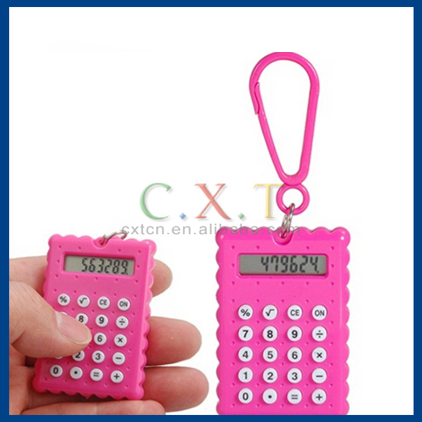 Ultra-thin portable mini office calculator keychain flip Student Computer Accessories