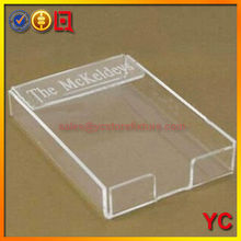 Acrylic Material 4x6 acrylic note pad holder