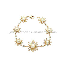 Fashion crystal bracelet, Authentic Austrian white crystal 18k gold plated fashion crystal bracelet