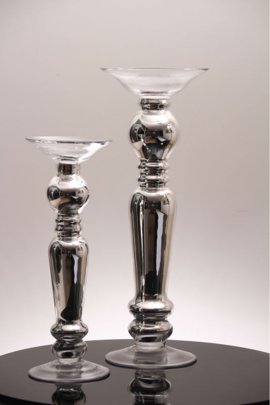 handblown footed clear vase crystal craft