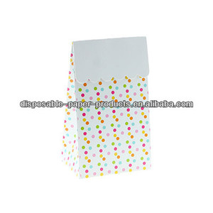 Stylish Party Partyware CONFETTI DOTS PARTY TREAT BOXES Party Bags/Treat Bags LOLLY TREAT FAVOUR BOX Kids party supplies Vintage