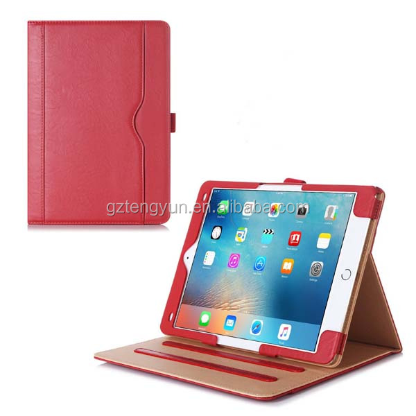 Wholesale Stand Back PC + Leather Smart Cover Case For iPad 6 Air 2 PU Leather PC Back Flip fold Cover