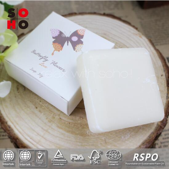 New promotion hotel soap with logo SGS certificate