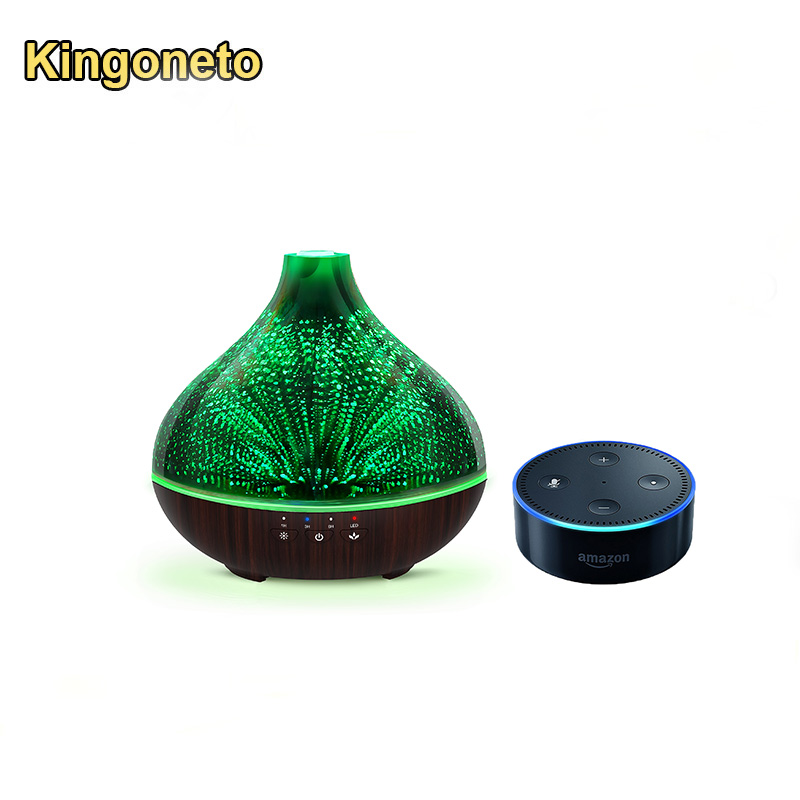 Portable Ultrasonic Aroma Humidifier with 7 Color Changing LED Lamps, Mist Mode Adjustment and Waterless Auto Shut-off Function