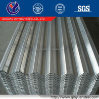 Zinc galvanized corrugated steel roofing sheet with Mill price 0.125-1.5mm thickness