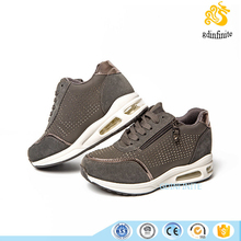 2017 Korea Style Crystal Height Increasing Women Casual Running Sport Shoes