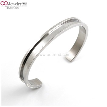 hot-sales 2018 surgical stainless steel 316L blank bangle for inlay
