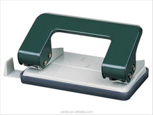 cheap price PP material 12 sheet green office hole punch