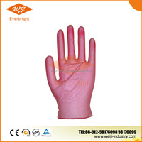 Top Selling Disposable Red Vinyl gloves for Beauty Salon / Women use