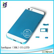 For iPhone5s Replacement Metal Alloy Back Battery Housing Cover Case Blue