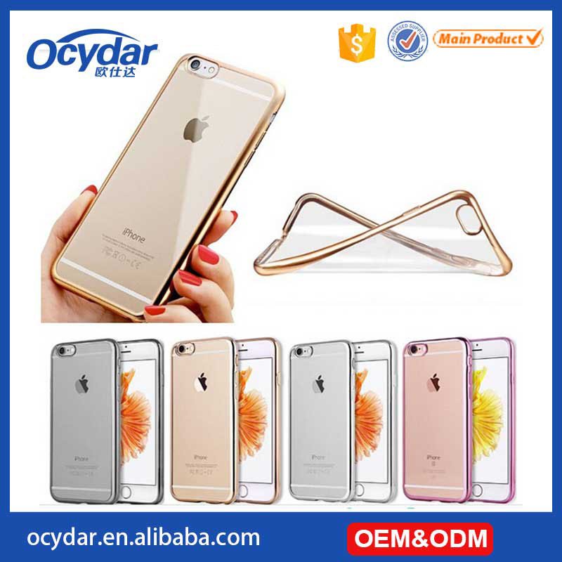 Hot Selling High Quality Electroplate TPU Case for iPhone 6, 4 Colors Available
