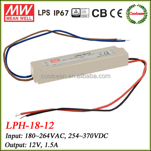Meanwell LPH-18-12 ip67 waterproof led driver