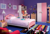 Factory Made Kids Bedroom Furniture Colorful Healthy Wooden Children Wardrobe