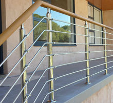 stainless steel wooden baluster designs / Casting made railing