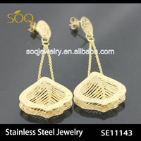 SE11143 crystal earring,fashion gold earring 2014 fashion jewelry
