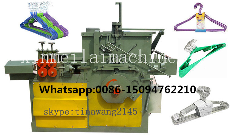 automatic PVC and Galvanized Wire Clothes Hanger Making Machine