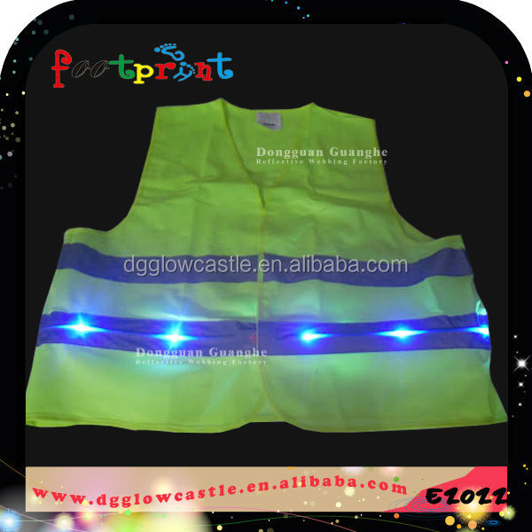 Safety product clothes led high visibility in night