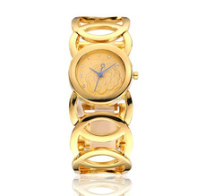 2014 ladies cuff watches for small wrists,luxury rose gold watch with leather straps for decoration