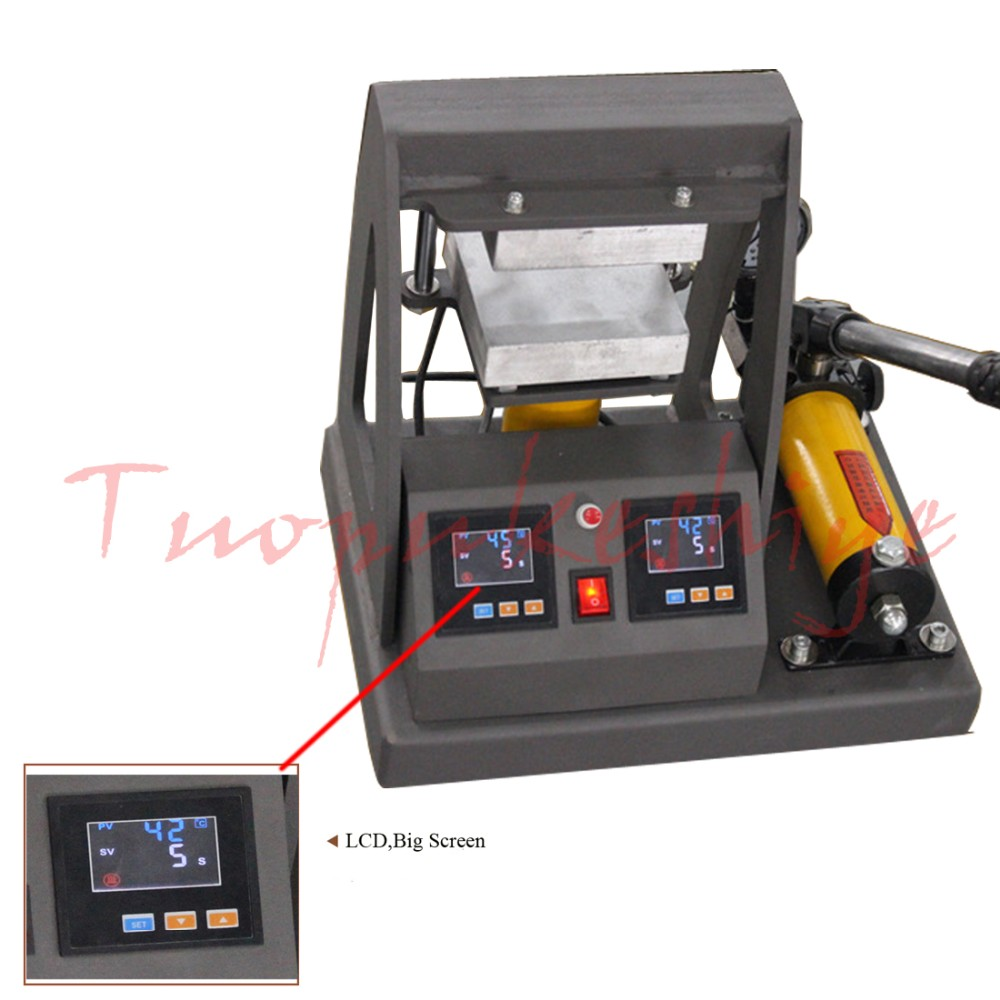 2017 New arrival hydraulic Rosin heat press solid dual plates 12*12cm 14000psi LCD screen manual type